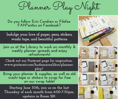 Planner Play Night