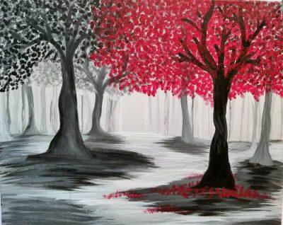 Paint-Sip-Nosh! | 'Pop of Color Trees'