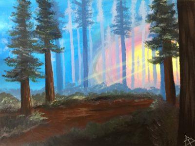 Paint-Sip-Nosh! | 'Pines At Dusk'