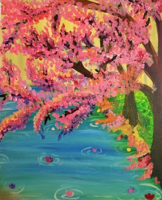 Paint-Sip-Nosh! | 'Spring Trees'