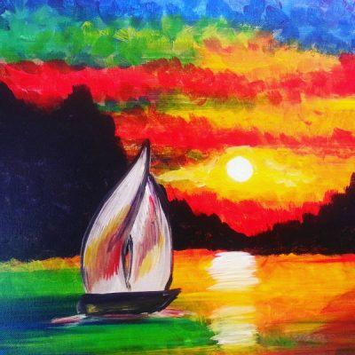 Paint-Sip-Nosh! | 'Sunset Sail'