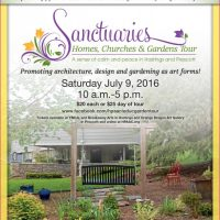 Sanctuaries: Homes, Churches and Gardens Tour 2016