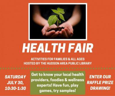 Health Fair at the Hudson Area Library