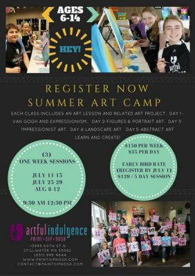 KIDS ART CAMP - Ages 6-14 - One Week Session