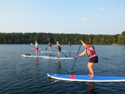 Stand-Up Paddleboarding at Point Douglas Park