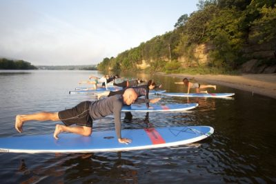 Stand-Up Paddleboarding Yoga at Square Lake Park