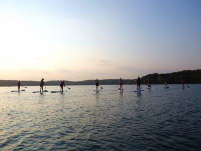 Sunset Stand-Up Paddleboarding at Square Lake Park