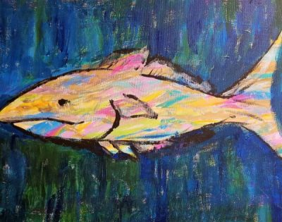 Paint-Sip-Nosh! | 'Abstract Fish'