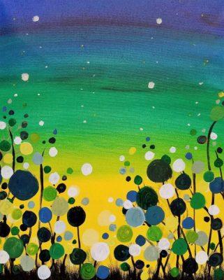 Paint-Sip-Nosh!   'Abstract Floral Garden'