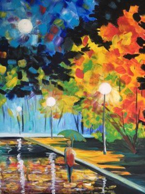 Paint-Sip-Nosh!   'Rain In The Evening'