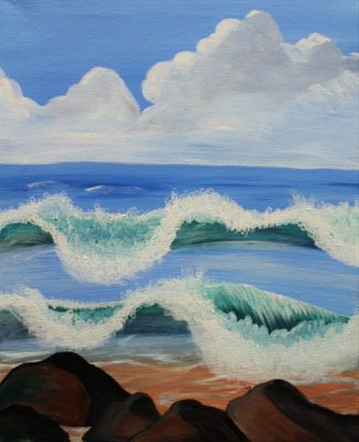 Paint-Sip-Nosh! | 'Beach Tide'