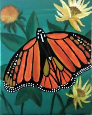 Paint-Sip-Nosh! | 'Monarch Butterfly'