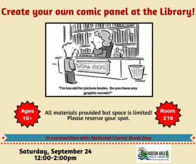 Create a Comic Panel at the Library!