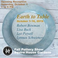 'Earth to Table' Fall Pottery Show