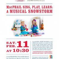 MacPhail Sing, Play, Learn: A Musical Snowstorm