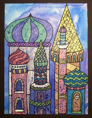 St. Basil's Cathedral Watercolor Resist with WBCA