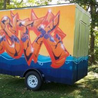 Micro-Exhibition in the Mobile Art Gallery at William O'Brien State Park