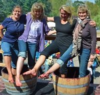 Saint Croix Vineyards Grape Stomp