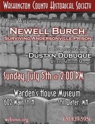 Newell Burch: Civil War Prisoner of War